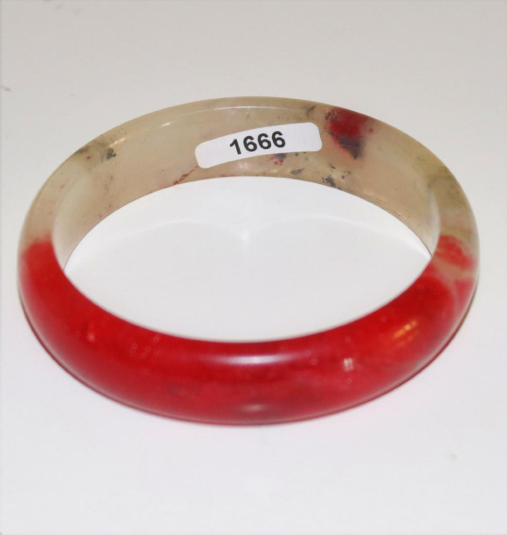 natural jade hand-carved Bangle 54mm