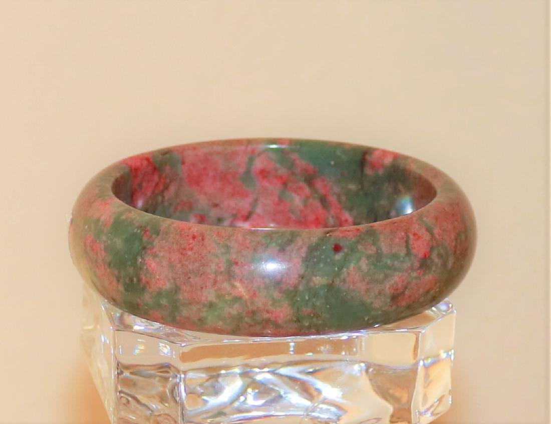 natural jade hand-carved Bangle