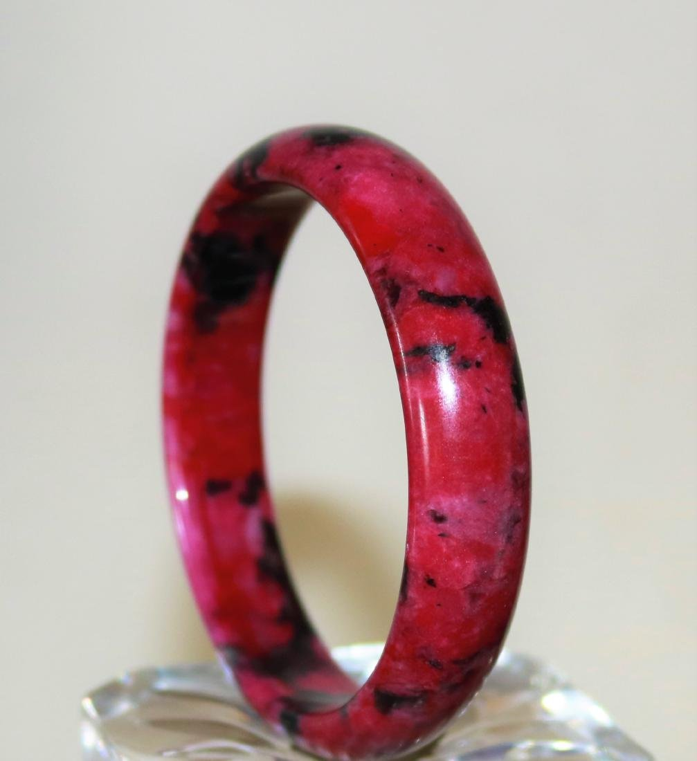 natural jade old hand-carved Bangle