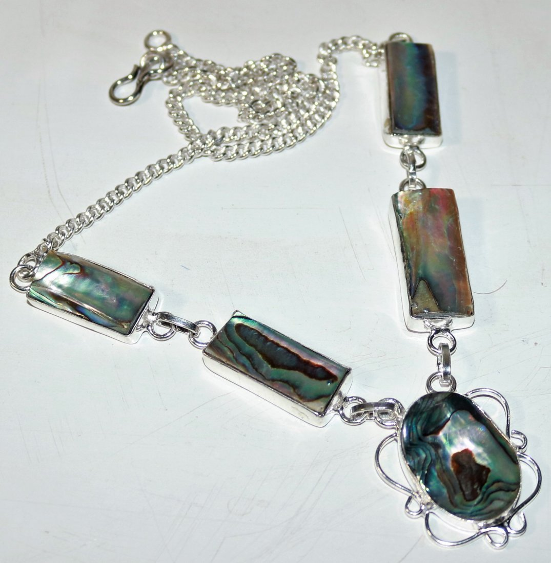 Abalone Shell 925 Silver  Necklace - 2