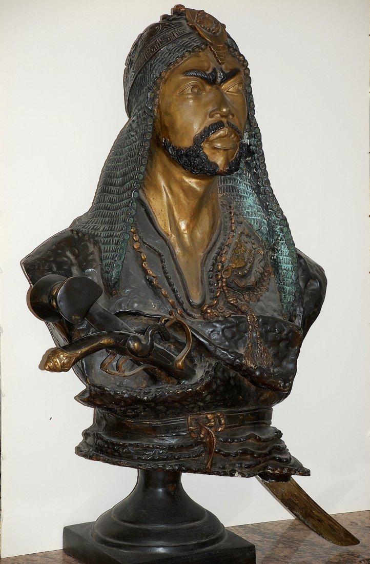 Emil Epple life size Bronze Warrior/Arab Shake