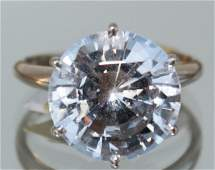 Natural Certified Large White Sapphire Ladies Ring