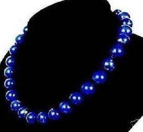 Natural 10mm Egyptian Lapis Lazuli Necklace