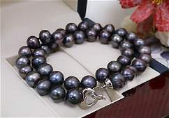 Black Colors Real Pearl 13-14mm AAA Natural Pearl
