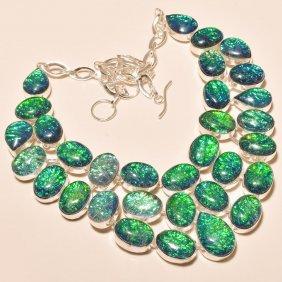 Australian Triplet Opal Silver Necklace