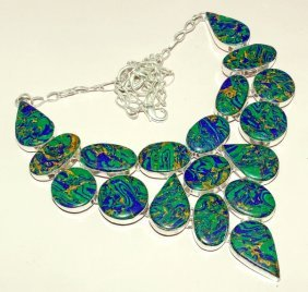Amazing Copper Turquoise Silver Necklace