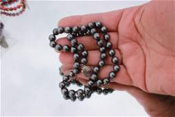 Natural Tahitian Black Pearls 18 inch