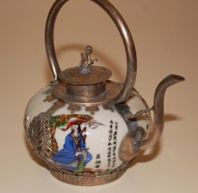 Chinese Porcelain Painted Teapot