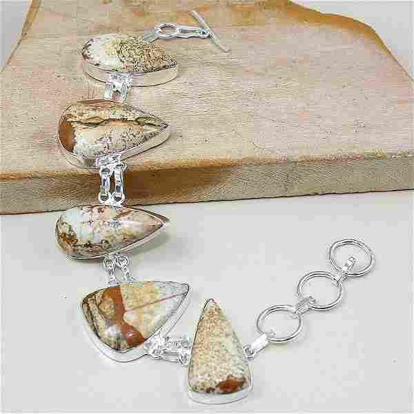 Jasper Silver Bracelet