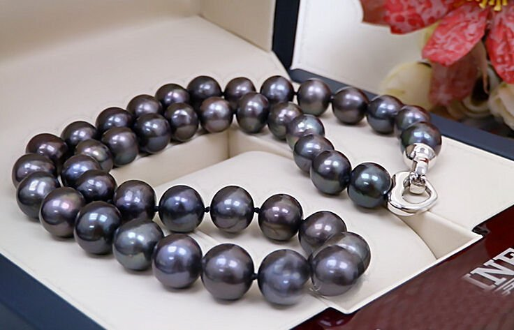 Real Pearl 13-14mm Necklace