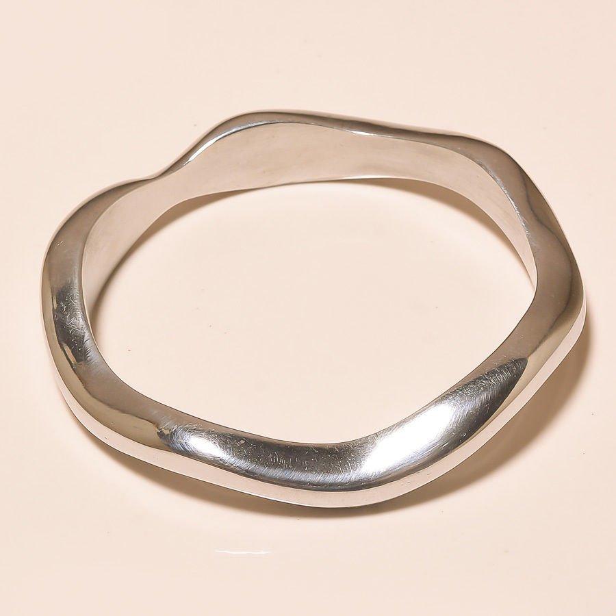 Gorgeous Bali Sparkling .925 Silver Jewelry Bangle
