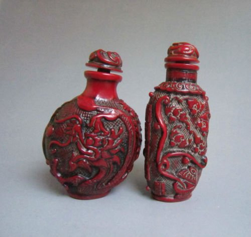 Decorative Coral Carved Snuff Bottles