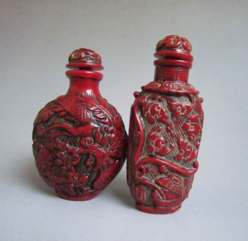 Decorative Coral Carved Snuff Bottles - 2