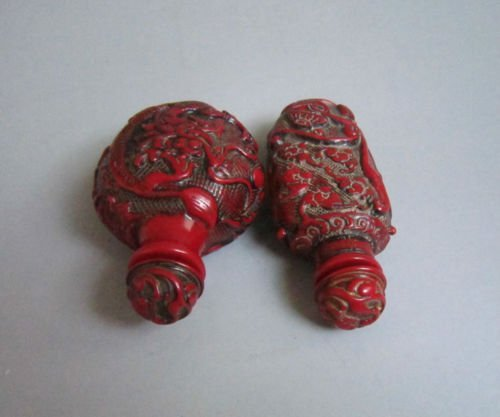 Decorative Coral Carved Snuff Bottles - 3