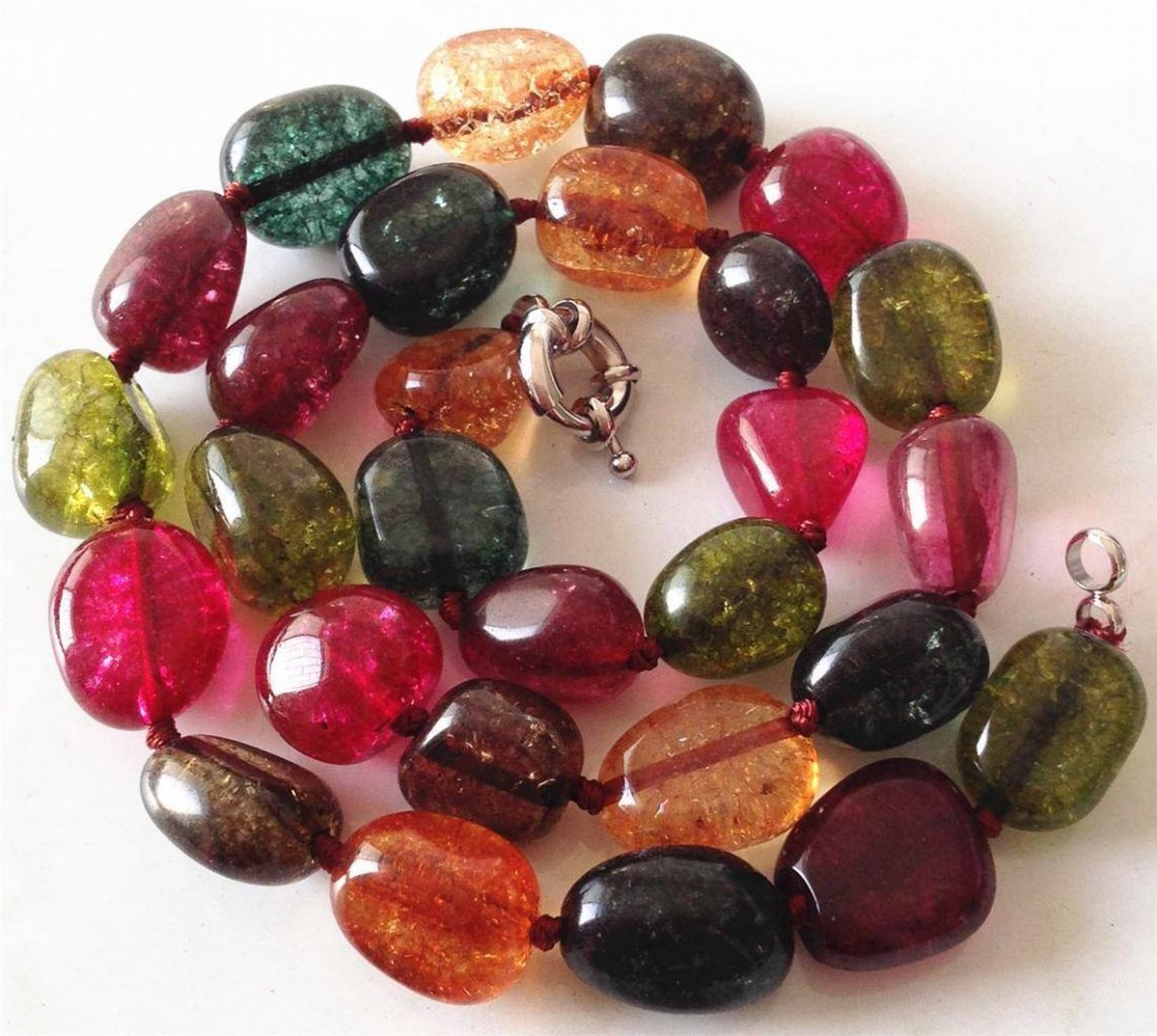 AAA Natural Multicolored irregular Tourmaline Gemstone - 2