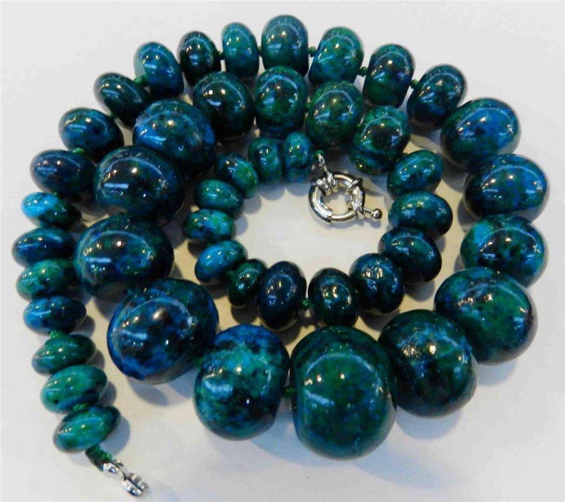 10-20mm Azurite Gemstone Phoenix Stone Round Beads - 2