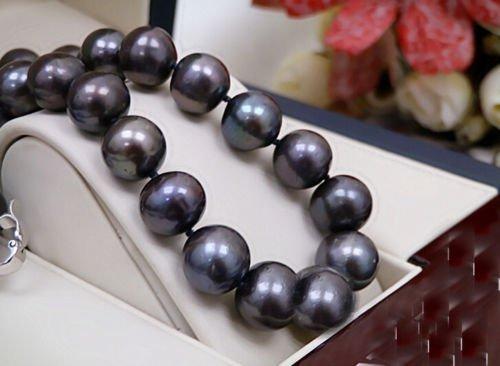 Black Colors Real Pearl 13-14mm AAA Natural Pearl - 2