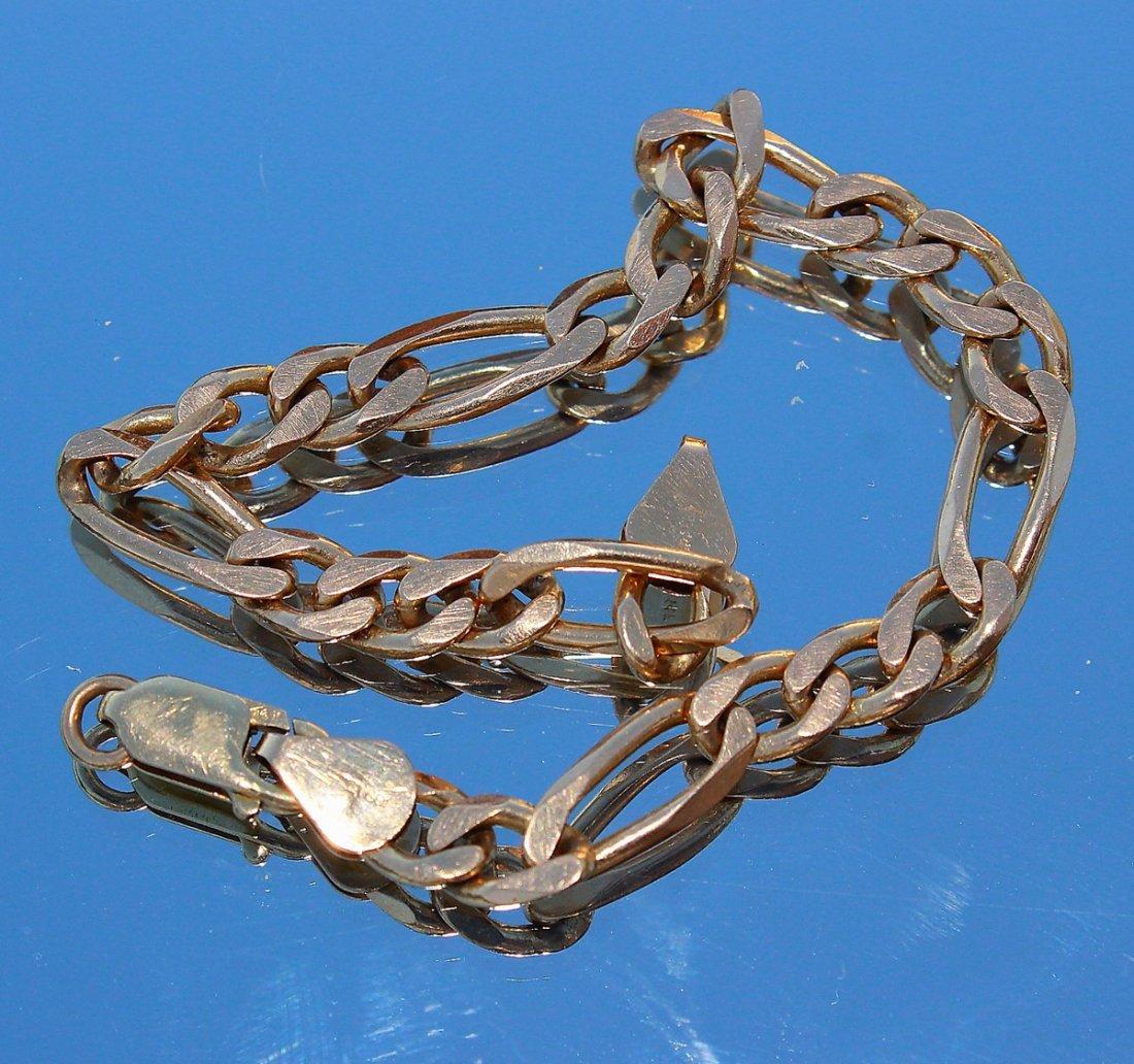 Solid 14K Gold Chainlink Bracelet