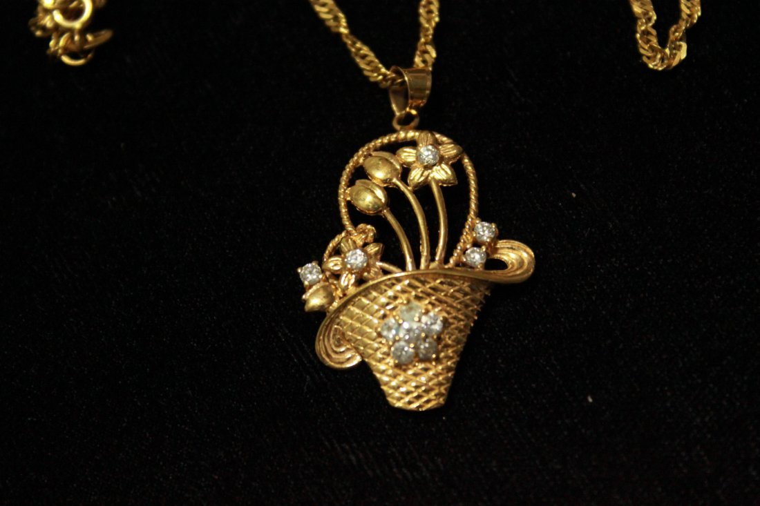 22K Solid Gold Necklace - 2
