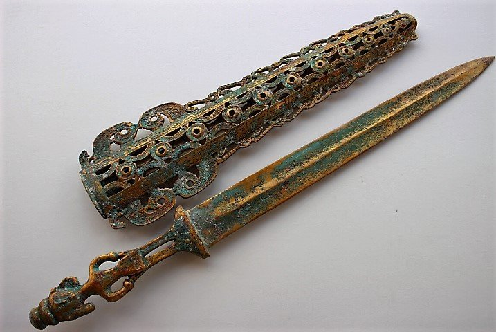 shang dynasty gilt engraved with the ancient text - 2