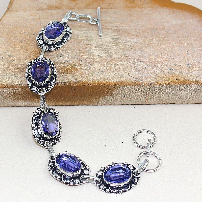 Amethyst 925 Silver Bracelet