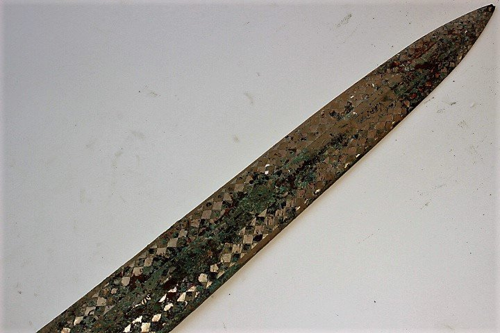 bronze silver gilding engraved with the ancient text - 4