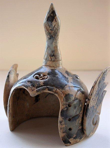 Jade Carving General Warrior Helmet
