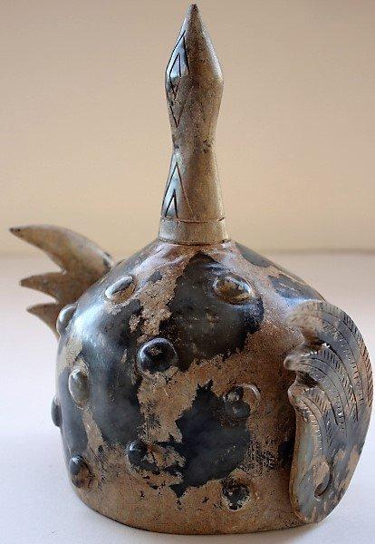 Jade Carving General Warrior Helmet - 2