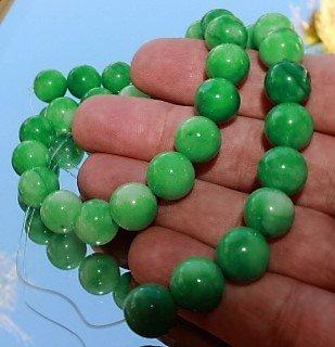 "12mm Natural Green Jadeite Jade Loose Beads 15"" Strand"