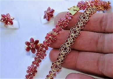 Burmese Ruby Ensemble Necklace