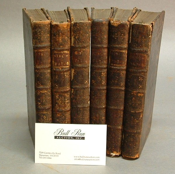 761: SIX 18TH CENTURY BOOKS, Vol. 1-5 and 7 of T