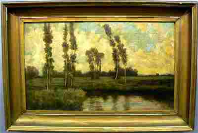 287: Oil on Canvas, Unsigned Landscape