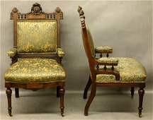 333: Pair of Victorian Walnut Chairs.