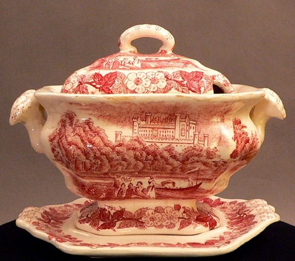 707: Transfer Decorated Small Tureen