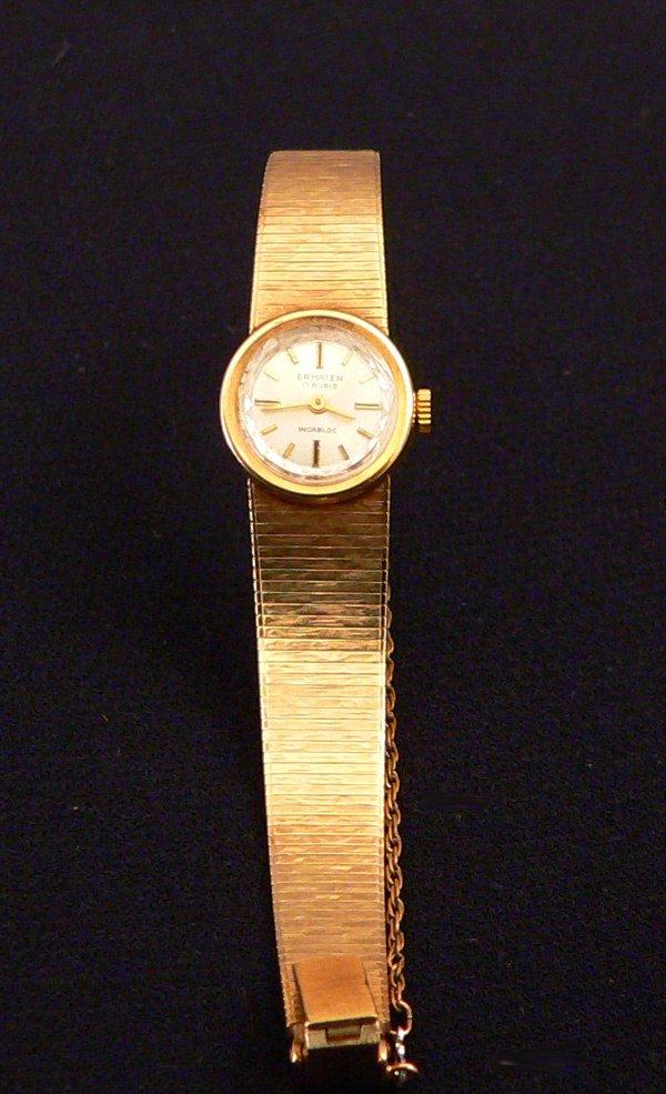 792: Ladies Gold Swiss Watch, 14k Ermaten
