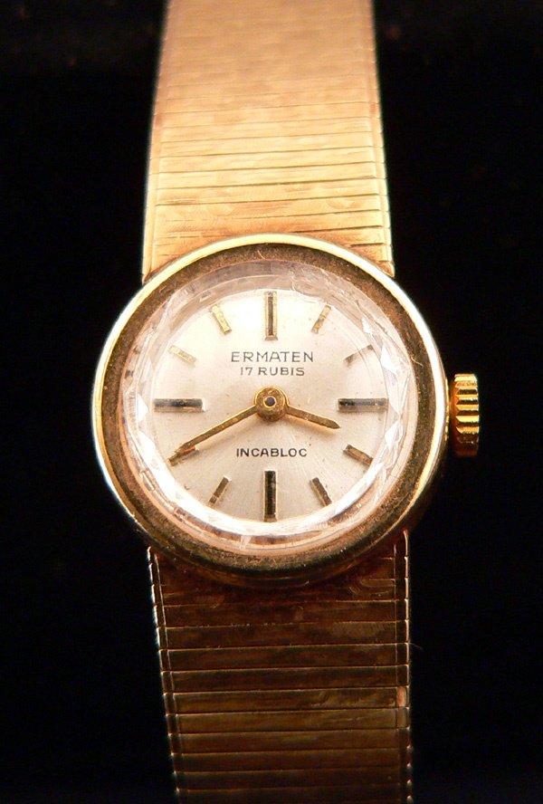 792: Ladies Gold Swiss Watch, 14k Ermaten - 2
