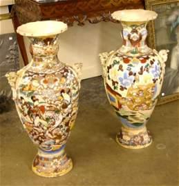976: Pair of Large Satsuma Vases.