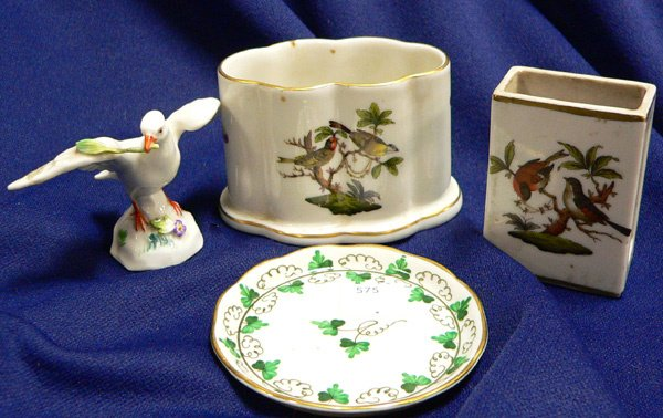1019: FOUR HEREND AND MEISSEN ITEMS, including: H