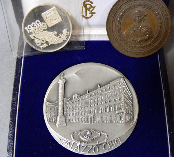 1020: Medallions, Two Silver & One Bronze