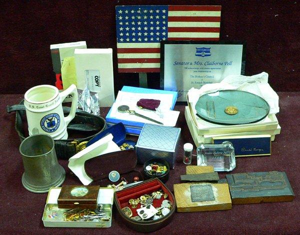 1021: Box Lot, US Senator Estate Political Memorabilia