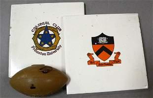 Princeton University Memorabilia, Tiles & Footbal