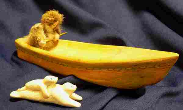 Two Inuit Carvings