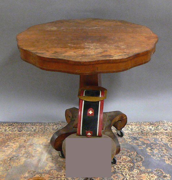 EMPIRE PERIOD MAHOGANY CENTER TABLE. H. 30