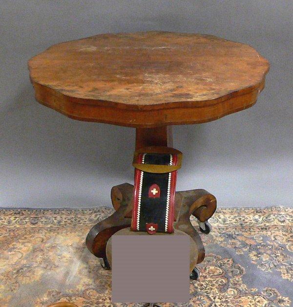 1039: EMPIRE PERIOD MAHOGANY CENTER TABLE. H. 30