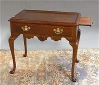 1048: Cherry Chippendale Style Tray Top Tea Table