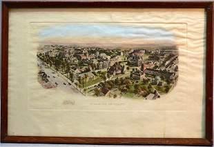 Hand-Colored Print, Princeton University