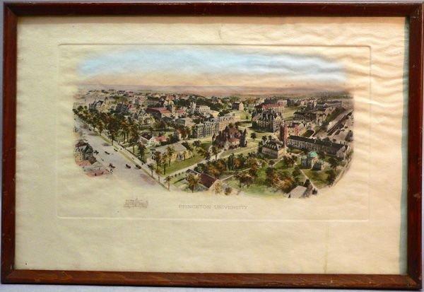 1024A: Hand-Colored Print, Princeton University