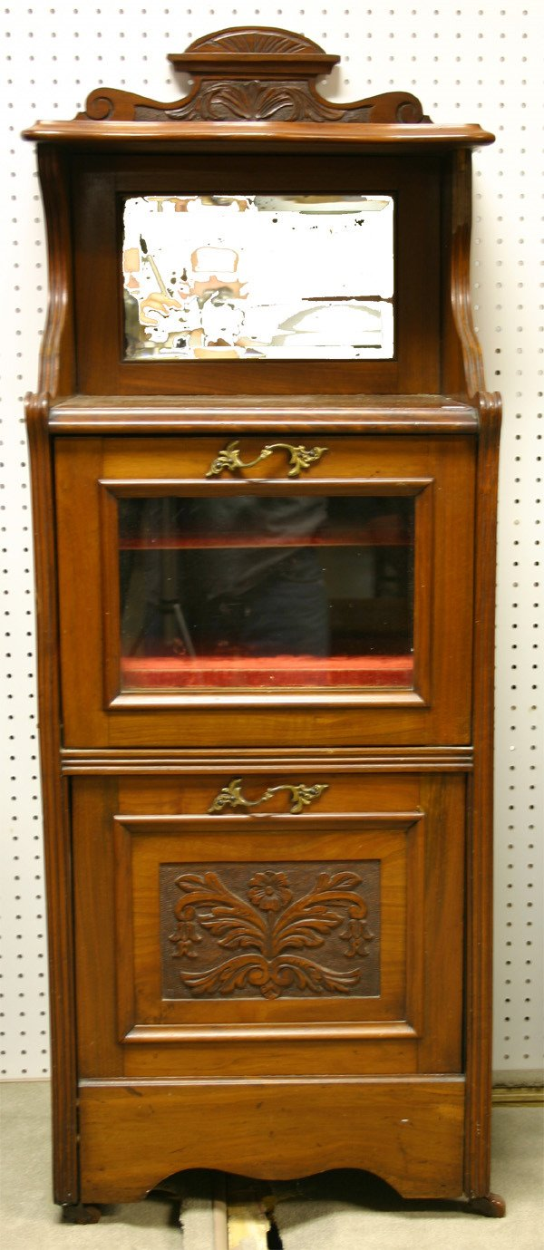 11: 19th C. Eng. Mahogany Music Cabinet