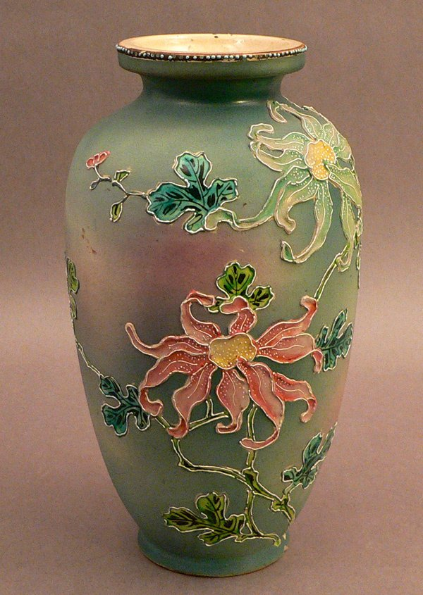 14: Totai Cloisonne Vase, Very Unusual.
