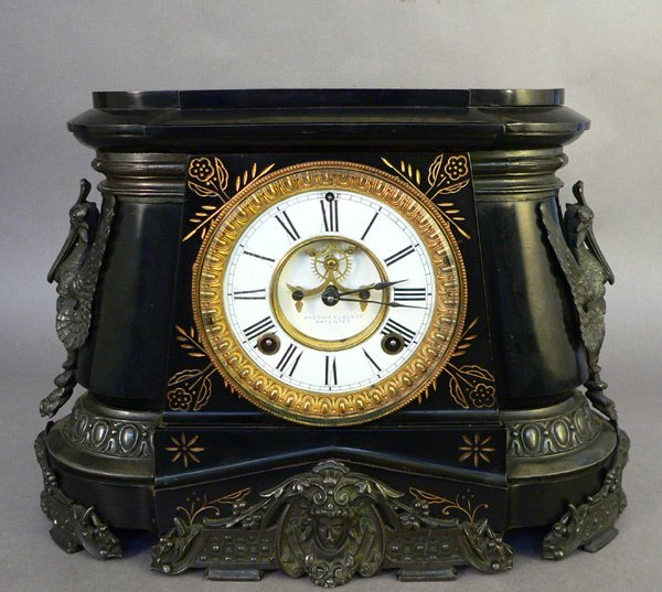 18: 19th Century Ansonia Clock, Pompeii Model